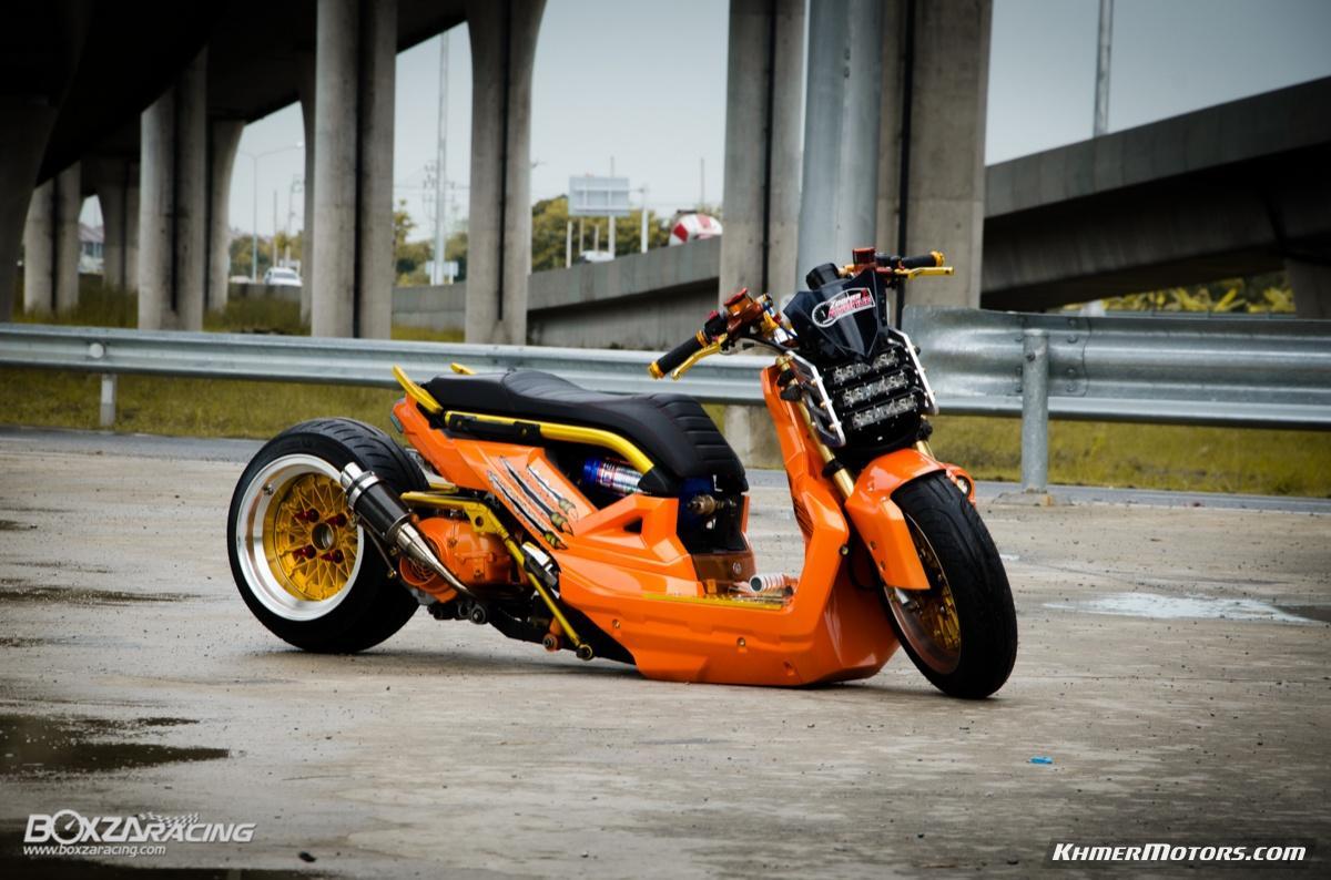 Custom Zoomer X Orange Style Khmer Motors