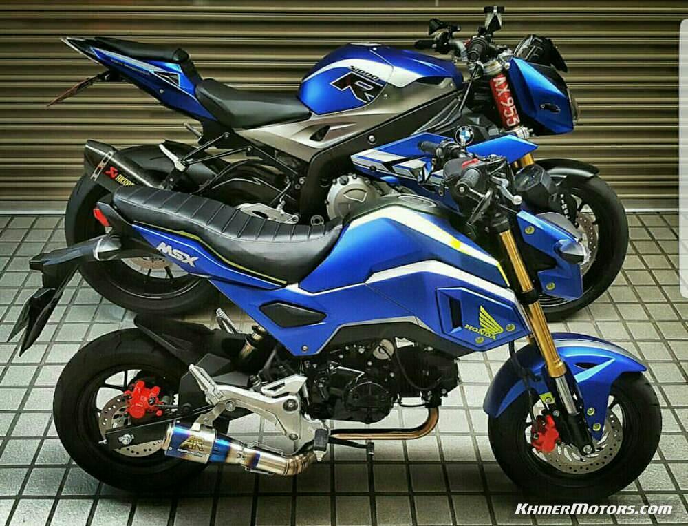 custom honda grom msx 125 motorcycle mini bike msx125 streetfighter sport bike 125cc 11 khmer. Black Bedroom Furniture Sets. Home Design Ideas